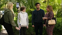 Jenna Donaldson, Emmett Donaldson, David Tanaka, Terese Willis in Neighbours Episode 8425