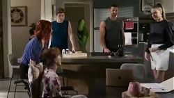 Nicolette Stone, Fay Brennan, Hendrix Greyson, Pierce Greyson, Chloe Brennan in Neighbours Episode 8426