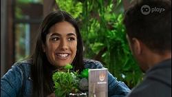 Yashvi Rebecchi, Levi Canning in Neighbours Episode 8427