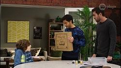 Emmett Donaldson, David Tanaka, Ned Willis in Neighbours Episode 8429