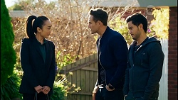 Leila Potts, Aaron Brennan, David Tanaka in Neighbours Episode 8430