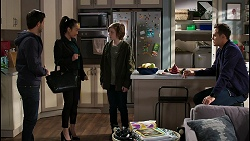David Tanaka, Leila Potts, Emmett Donaldson, Aaron Brennan in Neighbours Episode 8430