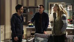 David Tanaka, Aaron Brennan, Jenna Donaldson in Neighbours Episode 8430