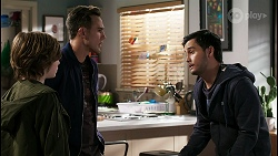 Emmett Donaldson, Aaron Brennan, David Tanaka in Neighbours Episode 8430