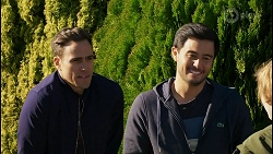 Aaron Brennan, David Tanaka, Emmett Donaldson in Neighbours Episode 8430