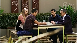 Harlow Robinson, Aaron Brennan, David Tanaka, Paul Robinson in Neighbours Episode 8430