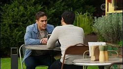 Aaron Brennan, David Tanaka in Neighbours Episode 8432