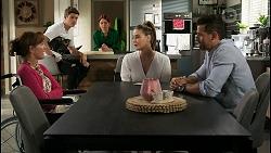 Fay Brennan, Hendrix Greyson, Nicolette Stone, Chloe Brennan, Pierce Greyson in Neighbours Episode 8432