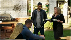 Roxy Willis, Kyle Canning, Levi Canning, Sheila Canning in Neighbours Episode 8433