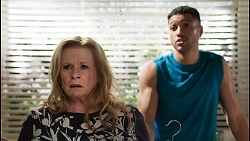 Sheila Canning, Levi Canning in Neighbours Episode 8434