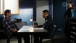 Shane Rebecchi, Levi Canning, Yashvi Rebecchi in Neighbours Episode 8436