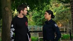 Ned Willis, Yashvi Rebecchi in Neighbours Episode 8436