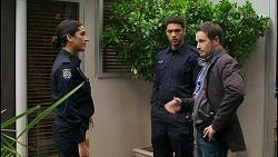 Yashvi Rebecchi, Levi Canning, Dax Braddock in Neighbours Episode 8436