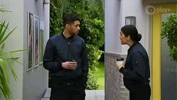 Levi Canning, Yashvi Rebecchi in Neighbours Episode 8437