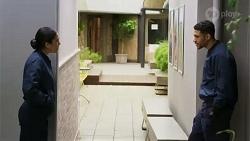 Yashvi Rebecchi, Levi Canning in Neighbours Episode 8437