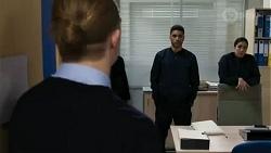 Richie Amblin, Levi Canning, Yashvi Rebecchi in Neighbours Episode 8437