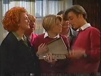 Cheryl Stark, Angie Rebecchi, Danni Stark, Stonie Rebecchi, Malcolm Kennedy in Neighbours Episode 2471