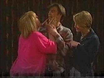Angie Rebecchi, Malcolm Kennedy, Danni Stark in Neighbours Episode 2471