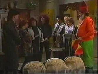 Colin Taylor, Helen Daniels, Cheryl Stark, Stonie Rebecchi, Angie Rebecchi, Annalise Hartman, Marlene Kratz, Joanna Hartman, Sam Krat in Neighbours Episode 2471