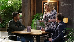 Levi Canning, Sheila Canning, Dax Braddock in Neighbours Episode 8441