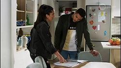Yashvi Rebecchi, Levi Canning in Neighbours Episode 8441
