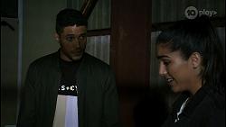 Levi Canning, Yashvi Rebecchi in Neighbours Episode 8441