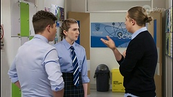 Hendrix Greyson, Mackenzie Hargreaves, Richie Amblin in Neighbours Episode 8443