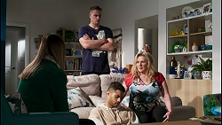 Bea Nilsson, Kyle Canning, Levi Canning, Sheila Canning in Neighbours Episode 8445