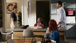 Chloe Brennan, Fay Brennan, Nicolette Stone, Pierce Greyson in Neighbours Episode 8449