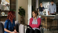 Nicolette Stone, Fay Brennan, Chloe Brennan, Pierce Greyson in Neighbours Episode 8450
