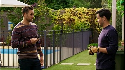 Aaron Brennan, David Tanaka in Neighbours Episode 8450