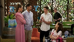 Chloe Brennan, Pierce Greyson, Hendrix Greyson, Fay Brennan in Neighbours Episode 8450