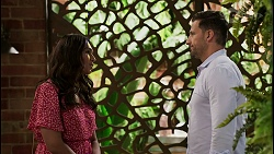 Dipi Rebecchi, Pierce Greyson in Neighbours Episode 8450