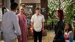 Pierce Greyson, Chloe Brennan, Hendrix Greyson, Nicolette Stone, Fay Brennan in Neighbours Episode 8451