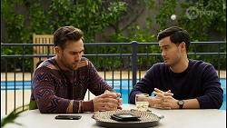 Aaron Brennan, David Tanaka in Neighbours Episode 8451