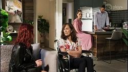Nicolette Stone, Fay Brennan, Chloe Brennan, Pierce Greyson in Neighbours Episode 8451