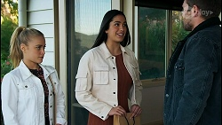 Roxy Willis, Yashvi Rebecchi, Ned Willis in Neighbours Episode 8453