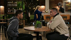 Levi Canning, Sheila Canning, Kyle Canning, Tom Nguyen in Neighbours Episode 8453