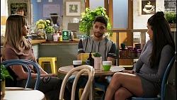 Bea Nilsson, Levi Canning, Yashvi Rebecchi in Neighbours Episode 8453