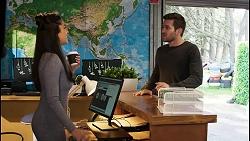 Yashvi Rebecchi, Ned Willis in Neighbours Episode 8453
