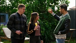 Kyle Canning, Bea Nilsson, Levi Canning in Neighbours Episode 8453