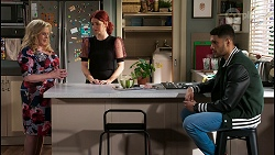 Sheila Canning, Nicolette Stone, Levi Canning in Neighbours Episode 8454
