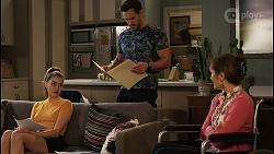 Chloe Brennan, Aaron Brennan, Fay Brennan in Neighbours Episode 8455