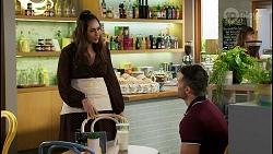 Dipi Rebecchi, Pierce Greyson in Neighbours Episode 8456