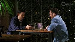 David Tanaka, Aaron Brennan in Neighbours Episode 8457