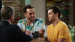 Paul Robinson, Aaron Brennan, David Tanaka in Neighbours Episode 8457