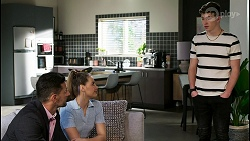 Pierce Greyson, Chloe Brennan, Hendrix Greyson in Neighbours Episode 8458