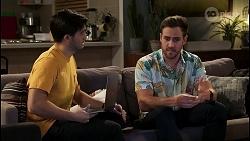 David Tanaka, Aaron Brennan in Neighbours Episode 8460