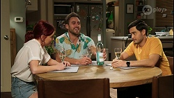Nicolette Stone, Aaron Brennan, David Tanaka in Neighbours Episode 8460