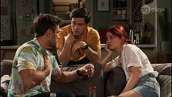 Aaron Brennan, David Tanaka, Nicolette Stone in Neighbours Episode 8460